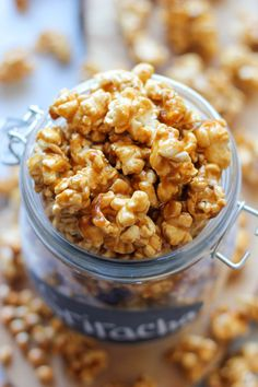 Sriracha Caramel Corn - This is the perfect balance of crunchy, sweet, caramel perfection with a wonderful kick of subtle heat!