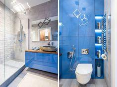 Apartament de 47 mp în stil marin | Adela Pârvu - Interior design blogger Bathroom Lighting, Bathtub, Case, Mirror, Interior, Furniture, Design, Home Decor, Bathroom Light Fittings