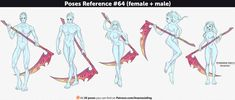 Poses Reference #64 (female + male) by Anastasia-berry on DeviantArt