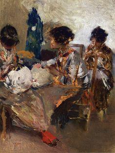 The Athenaeum - BLUM, Robert Frederick American (1857-1903)_Venetian Lace Makers