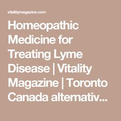 12 Best homeopathy and lyme disease images in 2017 | Homeopathic