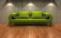 Green Sofa Wallpaper
