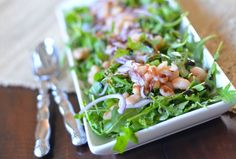Arugula-and-White-Bean-Salad-with-Honey-Balsamic-Vinaigrette Recipe - RecipeChart.com