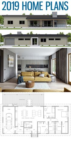 Small Affordable Home Plans, Home Plans, House Plans, New House Plans, Dream House Plans, Modern House Plans, Small House Plans, House Floor Plans, Zen House, Concept Home, Ranch Style Homes, House Layouts