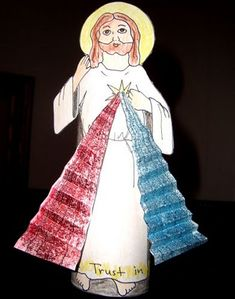 Divine Mercy Jesus Craft...I have done this with my 3rd grade 1st Communion class and they absolutely LOVED it!! Thanks catholicicing.com!!!  =)