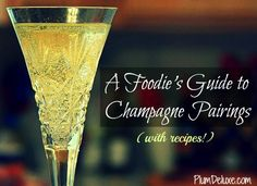 Pop the Bubbly: A Foodies Guide to Champagne Pairings via @PlumDeluxe >> Awesome guide!