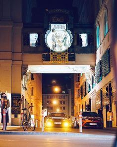 Wienoclock  #1010wien #innerestadt #wien #ankeruhr #vienna #clock #oldtown #austria #igersvienna #igersaustria #viennabynight #viennaatnight #urbex #streetphotography #agameoftones #moodygrams #moody #latenightvienna #photowalk #nightwalk #mariaamgestade #visitaustria #visitvienna #wienliebe #1000thingsinvienna #sonyalpha #sonyalpha7 #inlovewithvienna Visit Austria, Vienna Austria, Vienna At Night, Alpha 7, Photo Walk, Old Town, Big Ben, Street Photography, Clock