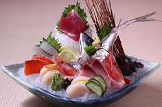 beautiful sashimi plate