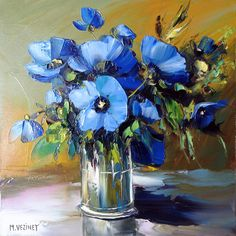 Michel Vezinet blue flowers