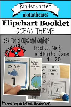 This is a great HANDS ON low prep flipchart book for pre-kindergarten / kindergarten and grade There is a b/w version as well as color! A fun resource to add to your ocean theme. Kindergarten Themes, Kindergarten Learning, Teaching, Learning Numbers, Ocean Themes, Alphabet Activities, Number Sense, Learning Through Play, Math Skills