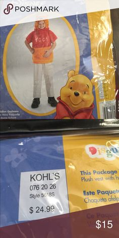 Winnie the Pooh kids costume NWT Winnie the Pooh costume Disney Costumes Halloween