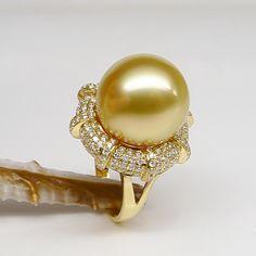 south sea pearl ring, ID:1022-SPR02