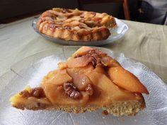 Tarte tatin de marmelo, maçã e nozes - Sabores da minha cozinha