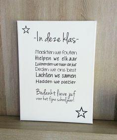 Nog een leuk idee voor afscheidscadeautje voor de juf of meester. Made by: Feels Like