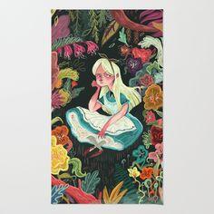 Alice in Wonderland Area & Throw Rug