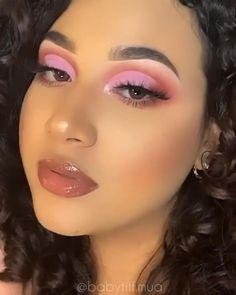 Purple Makeup Looks, Makeup Eye Looks, Eye Makeup Art, Pink Makeup, Makeup For Brown Eyes, Pretty Makeup, Colorful Makeup, Eyeshadow Makeup, Hair Makeup