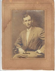 Handsome Man in Pinstripe Business Suite Antique Cardboard Mounted Photograph