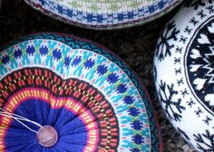 upcycled pouf seats