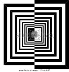 black and white squares - stock vector