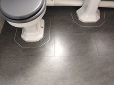Customer Bathroom project completed in Amtico Signature Stria Rock.   A dark, almost industrial tone and subtle texture give this product and strong urban feel, ideally suited to modern designs. #amtico #flooring #bathroom