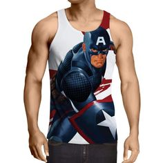 Captain America: 3D Printed Obstreperous Captain America Tank Top