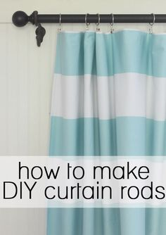 easy & cheap way to make your own DIY curtain rods