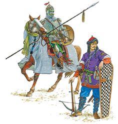 Cavalier ghulam heavy infantry and Seljuk Seljuk