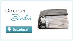 Great way to start your coupon binder. Download this binder set up and all you need to do is put it in a 3-ring binder and start filing.