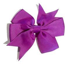 "Purple 3"" pinwheel grosgrain bow"