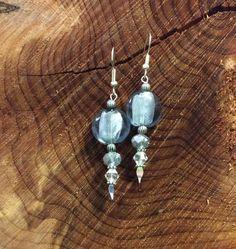 Handcrafted Silver Beaded Earrings