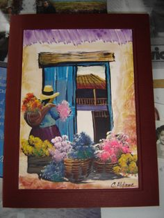 linda tarjeta pintada con acrilico Mini Paintings, Landscape Paintings, Easy Canvas Painting, Canvas Art, New Mexico Style, Feather Drawing, Peruvian Art, Mexico Art, Southwest Art