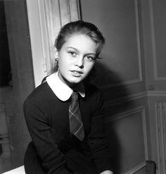 Brigitte Bardot (September 28, 1934 - ) photo 1950. age 16. #actor