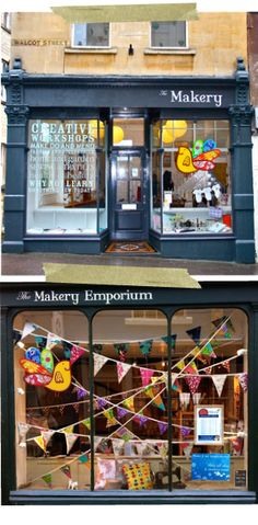 The Makery Emporium - pretty shop, 16 Northumberland Place, Bath  Opening times Monday - Saturday: 10:00 - 17:30    With thanks to @Jo Sowerby for the original pin
