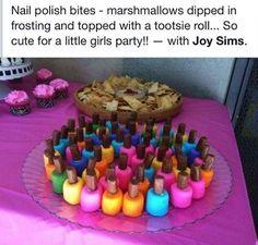 DIY nail polish bites - girls party idea