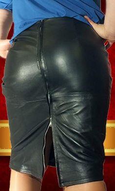 Black leather skirt bottom