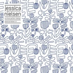 news - Jessica Nielsen - surface pattern design Watercolor Pattern, Abstract Pattern, Textures Patterns, Print Patterns, Pattern Sketch, Monochrome Pattern, Graphic Design Print, Motif Floral, Illuminated Letters