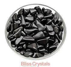 Pierre a chuté 6 petite TOURMALINE noire cristal par BlissCrystals