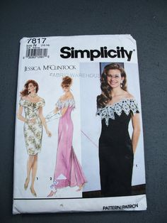 1992 Simplicity Jessica McClintock Fishtail by TheSewingDen, $9.50