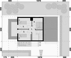 Projekt domu Orlean 5 dom letniskowy z poddaszem 57,43 m2 - koszt budowy 67 tys. zł - EXTRADOM Floor Plans, House, Home, Homes, Floor Plan Drawing, Houses, House Floor Plans
