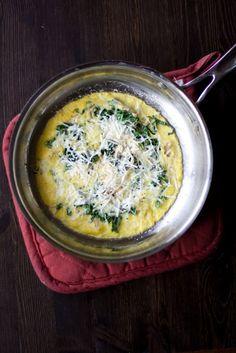 mushroom and kale omelet