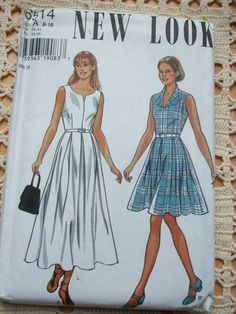 Classic Dress Pattern New Look 6514 Size 8 to 18 by PatternMatters, $12.00