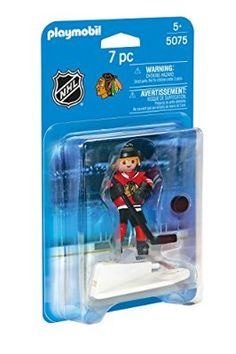 Bring the excitement of hockey into your play! This Playmobil hockey figure has a jersey with an authentic Chicago Blackhawks team logo, as well as a base that allows your player to slide across the ice and take shots! Boston Bruins Players, Chicago Blackhawks Players, Blackhawks Jerseys, Nhl Chicago, Nhl Players, Maple Leafs Wallpaper, Toronto Maple Leafs, Montreal Canadiens, New York Rangers
