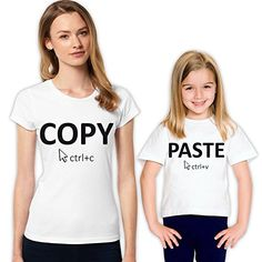 She is like Mom Copy Past Mother and Daughter Family T-Shirt Set 348 L 12-13 yrs ** Find out more about the great product at the image link.
