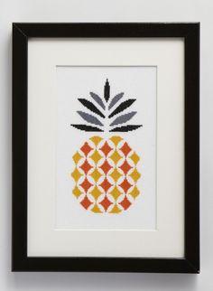 Kit tableau ananas, point de croix compté - Brgère de France