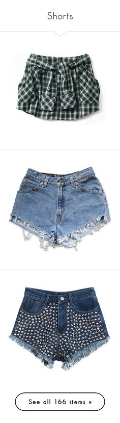 """""""Shorts"""" by rebeccastyles97 ❤ liked on Polyvore featuring skirts, shorts, bottoms, tops, women, short, pants, short jean shorts, ripped denim shorts and high rise denim shorts"""