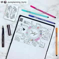 @pureplanning_bymj never disappoints. Behold her elegant #calendarwheel. I need to get myself a compass. #Repost @pureplanning_bymj (via @repostapp) ・・・ Since July comes to an end I want to show you how my circle monthly layout turns out. Now we are off f