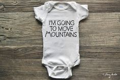 This onesie is the perfect wear for the little adventurer in your life! Inspired by parents who love the great outdoors!    Onesie is 100% Cotton. We