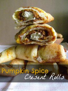 2-Ingredient Pumpkin Spice Crescent Rolls. Buttery crescent rolls with a pumpkin spice filling. Made easy with the use of 2 simple shortcuts! |PixieDustKitchen.com