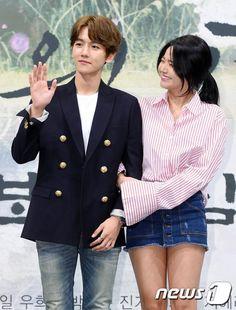 Byun baek hyun and Z. Scarlet Heart Ryeo Cast, Moon Lovers Drama, Korean Couple, Cha Eun Woo, Kim Junmyeon, K Idol, Seohyun, Drama Movies, Korean Actors