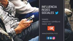 Ranking de influencia en redes sociales de orquestas españolas marzo 2017